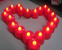 Tea Light religious candles - Smokeless LED Candle light licker Light Battery Candles wedding party supply