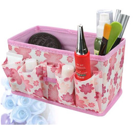 Wholesale Fedex Small Flower Prints Non woven Cloth Cosmetic Case