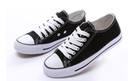 Wholesale Candy colored canvas shoes couple shoes white black pink