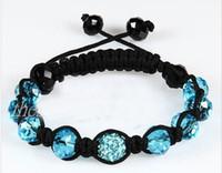 Wholesale shamballa shambala bracelets Macrame disco ball pave beads crystal bracelets jewelry armband