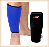 Wholesale Black Blue Sports Calf Shin Leg Elastic Compression Brace Support Wrap Calf Fitness Excercise