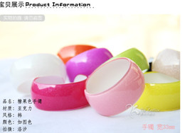 Wholesale Candy colored acrylic arm wide beach bracelet wide fashion plastic ring lovely new Trendy womens girl bangle girl s fashion bracelet
