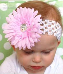 Crochet head band girls Hair bands hairpin baby hair bow clips daisy flower Crochet baby Headband