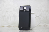 For Samsung battery cover - 5800mAh Extended Battery Back Cover for Samsung Galaxy S4 SIV i9500 Black White HK Post