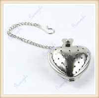 Wholesale Heart Shape Stainless Steel Infuser Filter Strainer Tea Spice Ball Spoon Tea Infuser Tolls