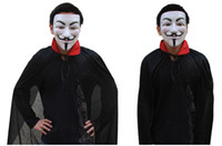 Wholesale V for Vendetta Mask Guy Fawkes Halloween Party Face Mask Super Scary Costume Mask Prank mask Worldwide
