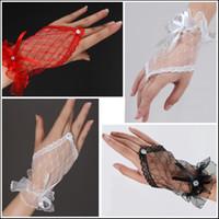 Fingerless girl white gloves - bridal accessories bridal wedding Fingerless gloves The net gloves fingerless flower girls lace gloves g06