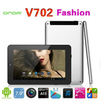Wholesale 7 quot ONDA V702 Fashion GB Capacitive MB MP Camera Tablet PC Allwinner A13 Mail400 Android Wifi Five Point Touch OTG