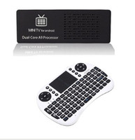 Wholesale MK808 Bluetooth Android Mini PC TV Box Dual Core Rockchip RK3066 WiFi HDMI with keyboard
