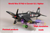 Wholesale high quality military F4U Corsair U S fighter aircraft model finished world war II piston propeller fighter model
