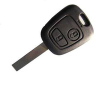 Wholesale car key case for Peugeot amp button remote key blank amp hu83 blade with logo