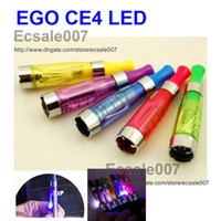 Electronic Cigarette Atomizer Red Best Sale 20PCS LED CE4 1.6ml Atomizer Cartomizer with LED Light for EGO-CE4S Electronic Cigarette E-Cigarette E-Cig EGO-T EGO-W 7Colors