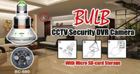Wholesale Multi function Night Vision Bulb CCTV Security DVR Camera Digital Video Recorder With IR LED amp Motion Detection Freeshipping