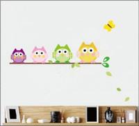 New Arrive l10 piece lot Little Owl Wall Sticker Wall Sticke...