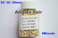 Wholesale colors Optional Gray Blonde Color Silicone Micro Ring Beads For Feather Hair