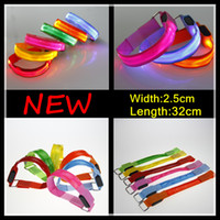 armlets - New Arrival LED Armlets safety outdoor Sport Gadgets luminous Reflective lattice Nylon webbing Armband new Fashion hot Selling for Parties