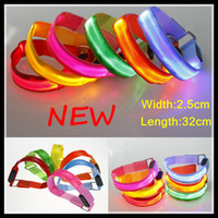 Wholesale New Arrival LED Armlets safety outdoor Sport Gadgets luminous Light Up lattice Nylon webbing Armband new Fashion hot Selling for Parties