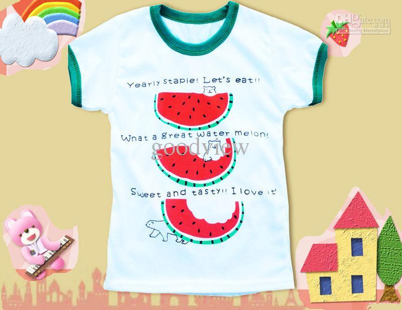 Fashion Children T-shirt Kids Clothing Unisex Printed Short Sleeve ...