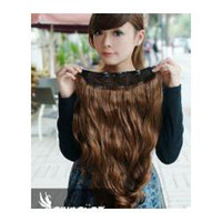 Wholesale One Piece New Long Synthetic Curly Wave Clip In Hair Extensions extent Styling Stylish Queens Fashio