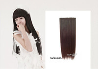 Wholesale ONE PIECE lONG STRAIGHT CLIPS ON WOMEN S HAIR EXTENSION
