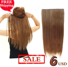 Wholesale Promotion clip in hair extension hair pieces one piece for full head colors avail