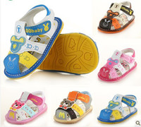 Wholesale Hot Sale with tracking number boy girl PU Summer ANTISKID SHOE Baby First Walker Shoes