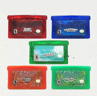 Wholesale Video Games for Gameboy GBA games Hottest pok Mix order Custom order