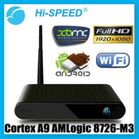 Wholesale HI SPEED DA Android HD p XBMC WiFi Media Center Player Mini PC TV Box HTPC IPTV AMLogic M3