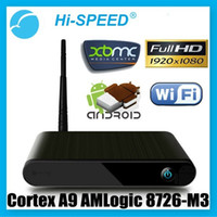 Wholesale HI SPEED cs DA Android HD p XBMC WiFi Media Center Player Mini PC TV Box HTPC IPTV AMLogic M3
