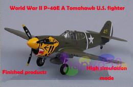 Wholesale free ship model for choosing P E Tomahawk U S fighter finished world war II piston propeller fighter model military aircraft model
