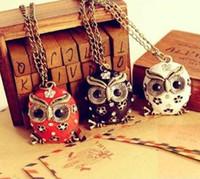 Wholesale 24PCS Colorful Owl Necklace Owl Pendant Necklace Fahion Necklace