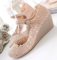 Wholesale Women Sandals Shoes Wedges Jelly Color Mix Color New Arrival prs H7