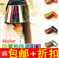 Wholesale UV protection caps outdoor cap summer cycling and empty hat sunscreen sun hats colors mixed EMS freeshipping