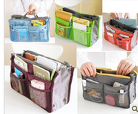 Wholesale Hot New Women Travel Insert Handbag Purse Large liner Organizer Bag Storage Bags Amazing Colors
