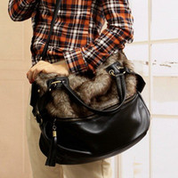 Wholesale BEST SELLING Plush flocking bundle tassel female bag single shoulder hand carry chain female bag
