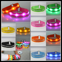 Wholesale 2013 New Arrival LED Strip Armlets safety outdoor luminous Nylon webbing Armband new Fashion hot Selling Arm Bands Gadgets for Bar Party