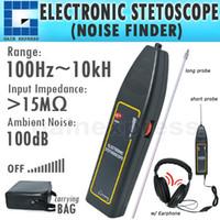 automotive stethoscope - E04 Electronic Stethoscope Car Truck Automotive Noise Sensor Finder Hz kHz High Sensitivity Long Short probe Earphone