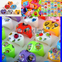 Wholesale Brand New Fashion X Cartoon Mix Color Kids Children Resin Chunky Rings KR15