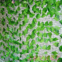 Wholesale FT High simulation large vines of grape vine leaves artificial silk flowers home garden Decor