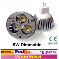 Wholesale 3x3W Dimmable MR16 W lM Warm White Cool White LED Light Lamp Bulb Spotlight Bulb replace halogen Safe and efficient DC V Made in China