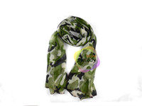 Wholesale Green Camouflage Neckerchief Special Forces Scarfs Overlong Voile Material Mens And Women Bandelet Factory Seller Size x100cm