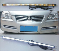 Toyota White 12V Toyota Reiz cars lights LED Daytime Running Driving Lights Kits,High Quality LED DRL,Drl lights