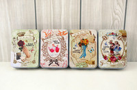 Wholesale LOVE Vintage Needlework tin box Vintage tin case Gift tin Box Sewing kit Jewelry Cases Mother Day Gift