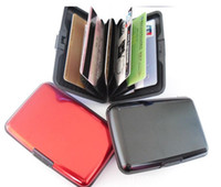 Wholesale 50pc Waterproof business card holder blank business card holder rigid credit card holder metal credit card organizer aluminum wallet