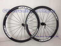 Wholesale ZIPP Firecrest Tubular clincher road carbon bike wheels racing road cycling wheelset novatec hub amp spokes include hubs and quick release