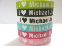 Wholesale Newest Super Star Fans Silicon Gel Bracelets Design For Michael Jackson s Fans Many Color For Choose