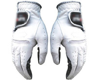Wholesale genuine leather golf magical gloves ultra fine soft men women golf gloves left hand right hand amp retail