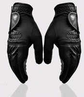 Wholesale genuine leather golf gloves left hand right hand golf magical gloves ultra fine soft men women with retail package