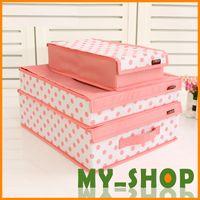 Wholesale 3 Set Underwear storage box Oxford cloth socks bra storage covered sorting box storage box JJ0026
