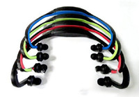 Wholesale 100pcs Wrap Around Earphone Sports MP3 Player GB Wireless Handsfree Headset With TF Card Slot and FM radio